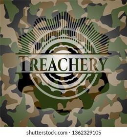 Treachery on camouflaged pattern