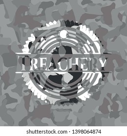 Treachery on grey camo pattern