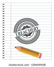 Treachery penciled. Vector Illustration. Detailed.
