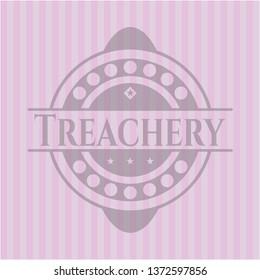 Treachery realistic pink emblem