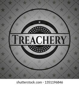 Treachery retro style black emblem