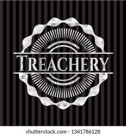 Treachery silvery badge or emblem