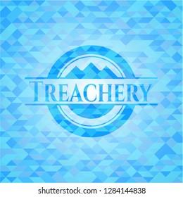 Treachery sky blue mosaic emblem