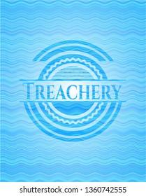 Treachery water badge background.