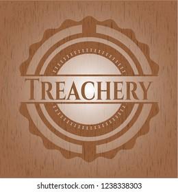 Treachery wood emblem. Retro
