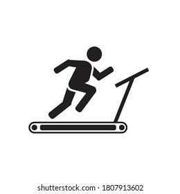 Treadmill icon vector illustration. Trendy style isolated vector icon.