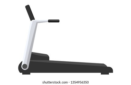 Treadmill machine icon flat and solid color design. Vector illustration.