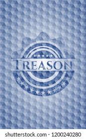 Treason blue hexagon emblem.