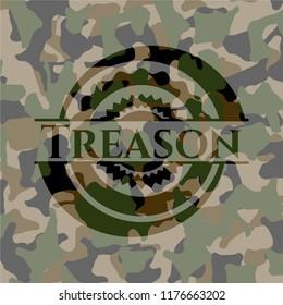Treason camouflage emblem