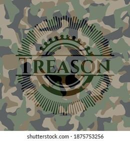 Treason camouflage emblem. Vector Illustration. Detailed.
