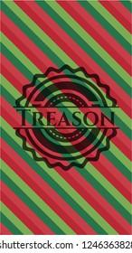 Treason christmas colors style emblem.