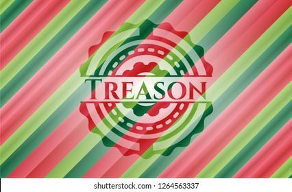 Treason christmas style badge..
