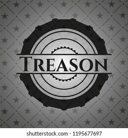 Treason dark emblem. Retro