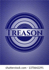 Treason emblem with jean background