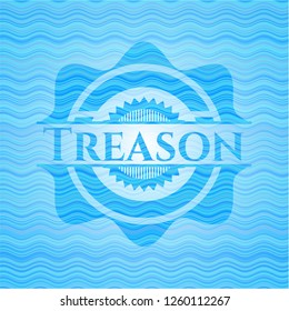 Treason light blue water badge.