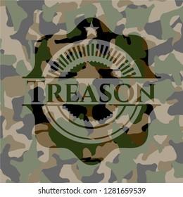Treason on camouflaged pattern