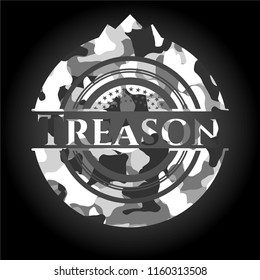 Treason on grey camouflaged pattern