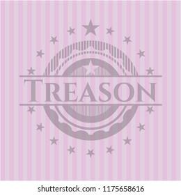 Treason vintage pink emblem