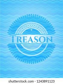 Treason water wave representation style emblem.