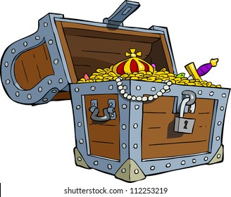 A treasure chest on a white background vector illustration