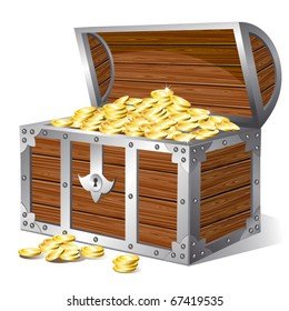 Treasure chest. Vector
