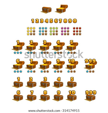 Treasure Chests Elements For Game Design Vector Il Ration