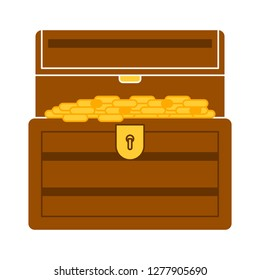 treasure icon- treasure box isolated, money box illustration - Vector treasure
