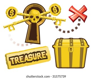 Treasure Icons - Vector Illustrations