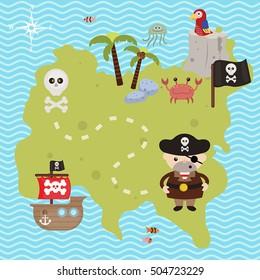 Cartoon Treasure Map Images, Stock Photos & Vectors | Shutterstock on