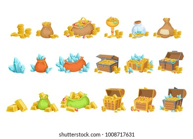 Treasure And Riches Set OF Game Design Elements