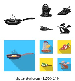 treat, appliance, tool and other web icon in black,flat style.cook, housewife, hands icons in set collection.