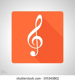 treble clef app icon