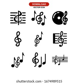 treble clef icon or logo isolated sign symbol vector illustration - Collection of high quality black style vector icons