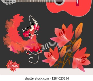 Girls Case Red Rose Flower Illustration