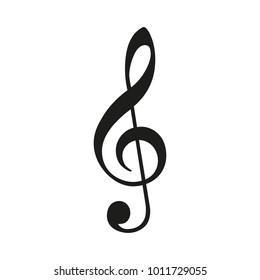 Treble clef. Vector illustration.