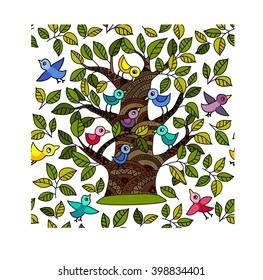 tree 01 vector pattern