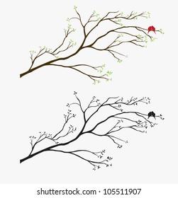 Tree Bird wall decal