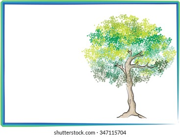 tree with border