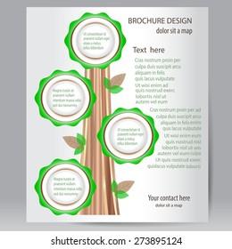 Tree brochure -vector design