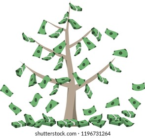 Tree carries ready-to-eat money.