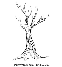 Pencil Drawing Tree Images Stock Photos Vectors Shutterstock