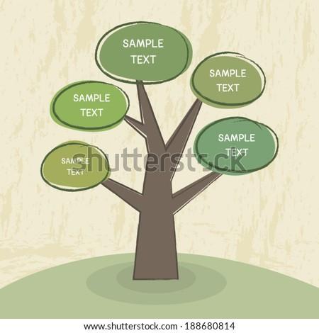 tree chart design template tree diagram stock vector royalty free