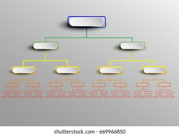 Tree chart diagram template for create report and presentation. Vector EPS10