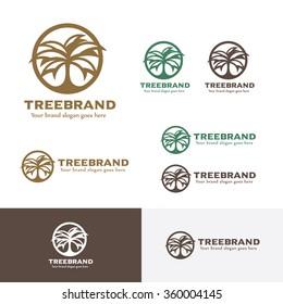 Tree Circle Badge Logo