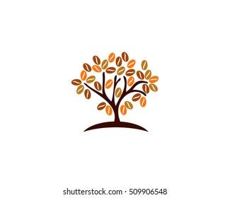 Tree Coffee Logo Design Template