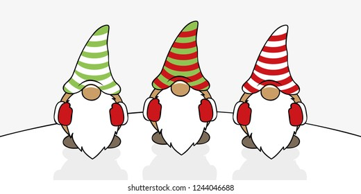 Christmas Gnome Clipart Black And White.Christmas Gnome Images Stock Photos Vectors Shutterstock