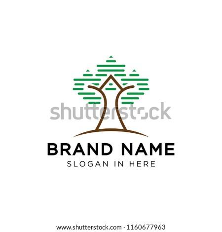 tree data grid logo template stock vector royalty free 1160677963