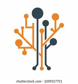 tree data logo vector