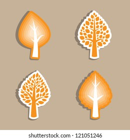 For a tree is decorated or icon Vector illustration.