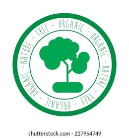Tree design over white background vector illustration